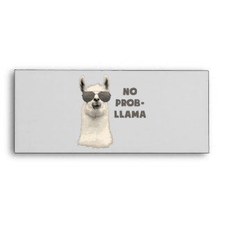 No Problem Llama Envelope