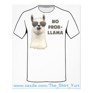 """No Problem Llama 4.5"""" X 5.6"""" Flyer"""