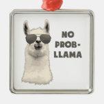 No Problem Llama Metal Ornament