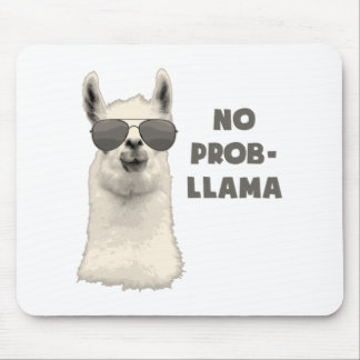 No Problem Llama Mouse Pad