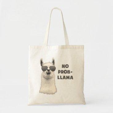 The_Shirt_Yurt No Problem Llama Tote Bag