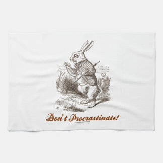 ¡No procrastine! (País de las maravillas blanco de Toalla