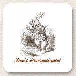 ¡No procrastine! (País de las maravillas blanco de Posavasos