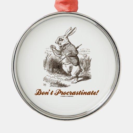 ¡No procrastine! (País de las maravillas blanco Ornamento De Reyes Magos