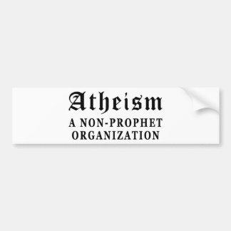 No-Profeta del ateísmo Pegatina Para Auto