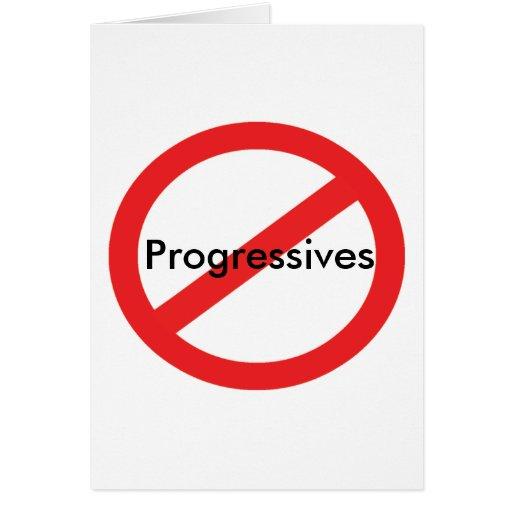 No Progressives Card