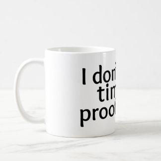No proofreading classic white coffee mug