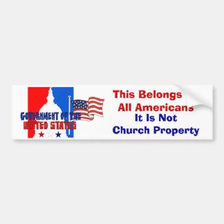 No propiedad de iglesia pegatina de parachoque