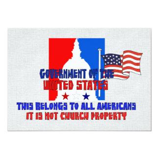 No propiedad de iglesia invitación 12,7 x 17,8 cm