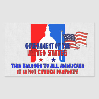 No propiedad de iglesia rectangular pegatina