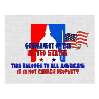 No propiedad de iglesia postal