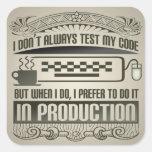 No pruebo siempre mi código pegatina cuadrada