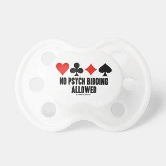 No Psych Bidding Allowed (Duplicate Bridge) BooginHead Pacifier