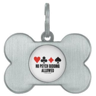 No Psych Bidding Allowed (Duplicate Bridge) Pet ID Tag