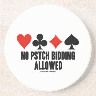 No Psych Bidding Allowed (Duplicate Bridge) Sandstone Coaster