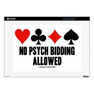No Psych Bidding Allowed (Duplicate Bridge) Skin For Laptop
