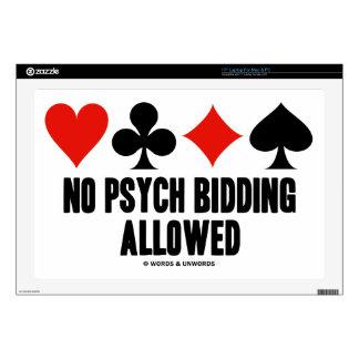 No Psych Bidding Allowed (Duplicate Bridge) Laptop Decal