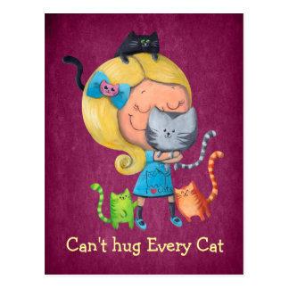 No puede abrazar cada gato tarjeta postal