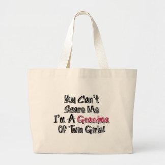 No puede asustarme la abuela de la cita linda de l bolsa lienzo