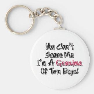 No puede asustarme la abuela de la cita linda de l llavero redondo tipo pin