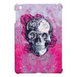 No puede atarme abajo del cráneo náutico en rosa iPad mini cárcasas