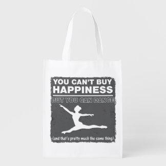 No puede comprar danza de la felicidad bolsa reutilizable