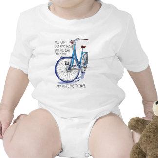 No puede comprar felicidad, bici azul trajes de bebé