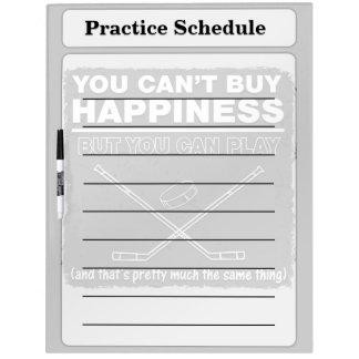 No puede comprar hockey de la felicidad pizarra blanca