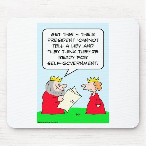 no puede decir el gobierno autónomo del rey de la  alfombrilla de ratón