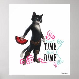 No puede domesticar a esta dama (el color) póster