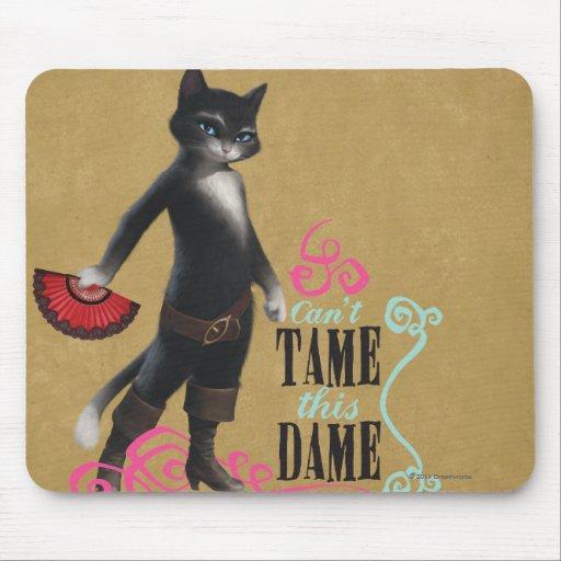 No puede domesticar a esta dama (el color) mouse pad