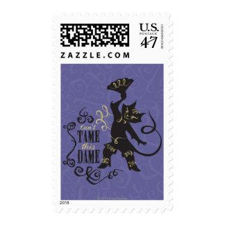 No puede domesticar a esta dama sello postal