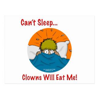 No puede dormir los payasos me comerá postales