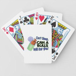 No puede dormir puede de toros me comerá cartas de juego