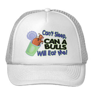 No puede dormir puede de toros me comerá gorros bordados