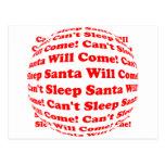¡No puede dormir Santa vendrá! Tarjetas Postales