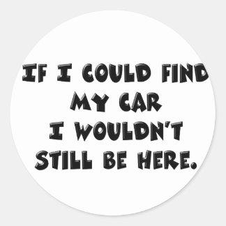 No puede encontrar mi coche pegatina redonda