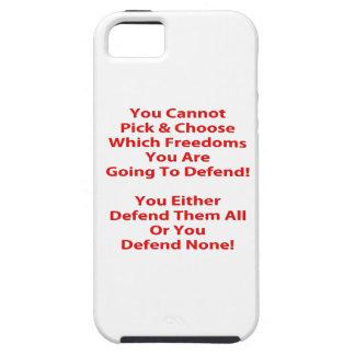 No puede escoger y elegir que las libertades a iPhone 5 carcasa