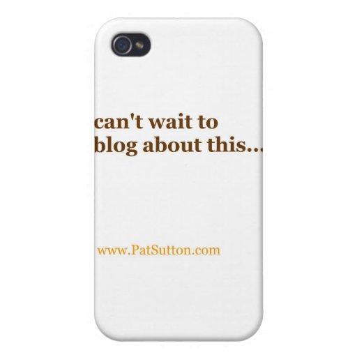 no puede esperar al blog sobre esto iPhone 4 carcasas