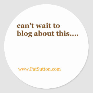 no puede esperar al blog sobre esto pegatina redonda