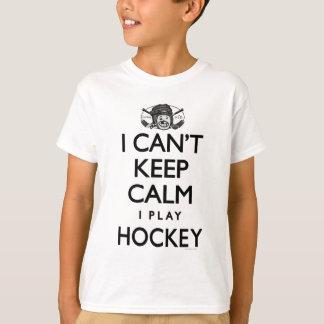 No puede guardar hockey tranquilo playera