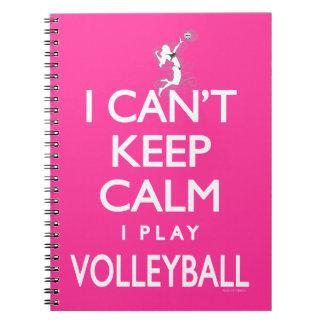 No puede guardar voleibol tranquilo cuadernos