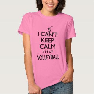 No puede guardar voleibol tranquilo playera