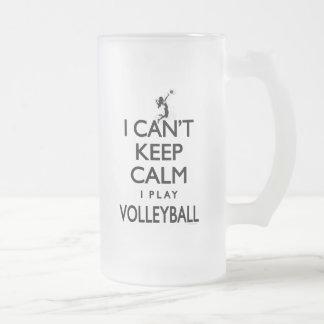 No puede guardar voleibol tranquilo taza de cristal