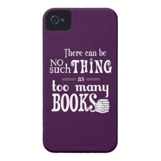 No puede haber cosa tal como demasiados libros iPhone 4 carcasa