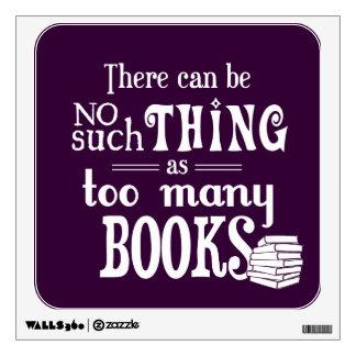 No puede haber cosa tal como demasiados libros vinilo adhesivo