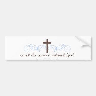 No puede hacer al cáncer sin dios pegatina para auto