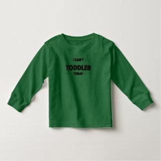 No puede la camiseta larga de la manga del niño playera de manga larga de niño