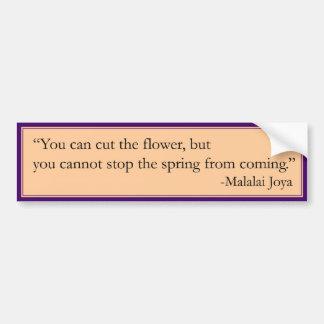 No puede parar la primavera pegatina para auto