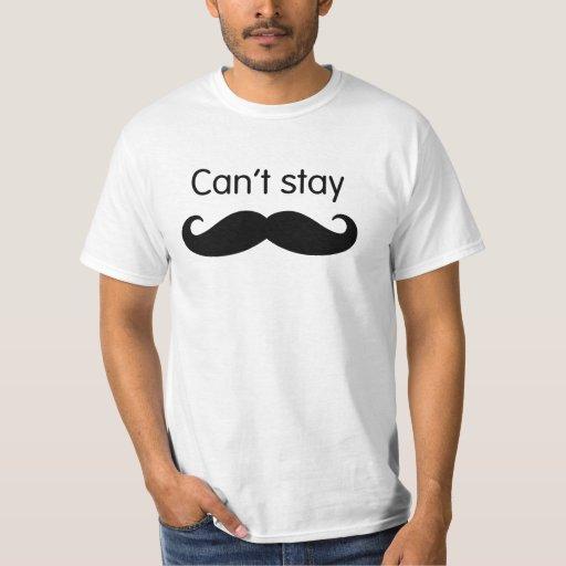 No puede permanecer la camiseta del bigote